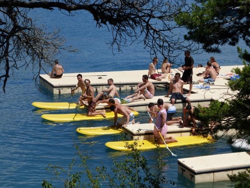 Ponton du stand up paddle savines le lac et serre ponçon