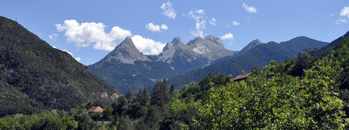 photo d'un paysage montagneux de la vallée de l'ubaye