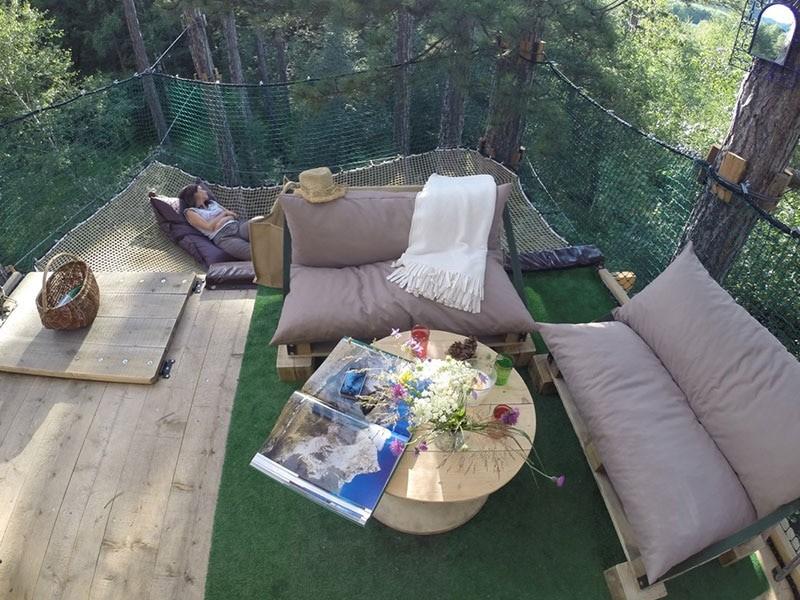 photo de la terrasse du junge lodge