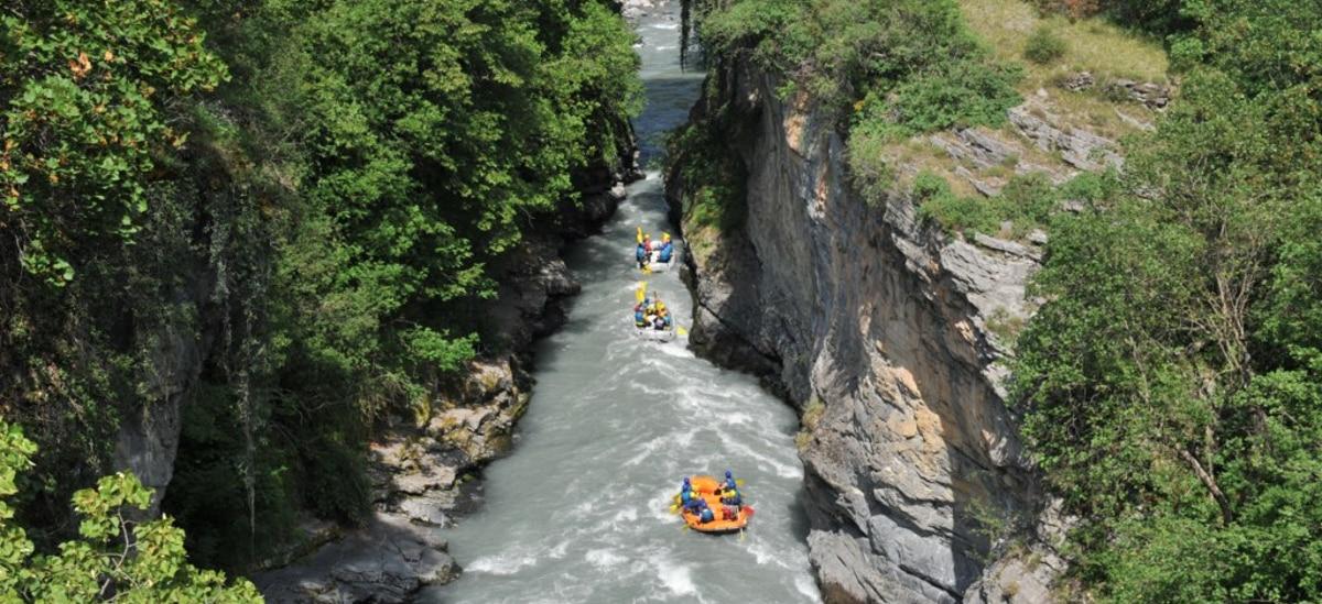 rafting dans les gorges de l'Ubaye