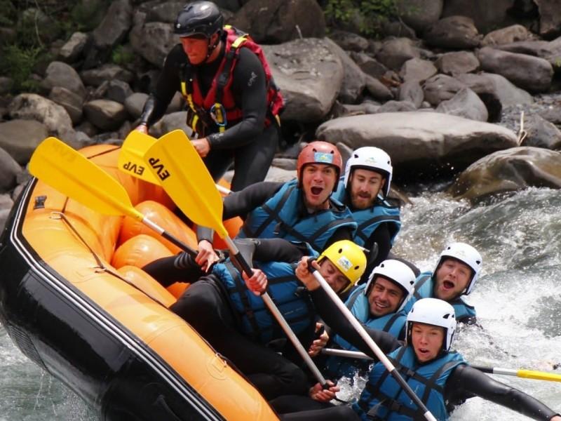 Raft sur la Durance