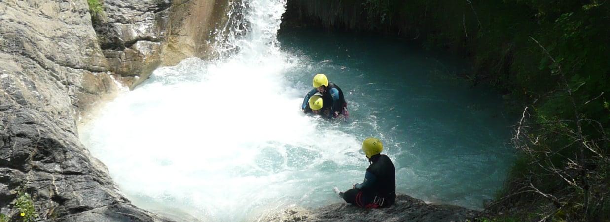 canyoning et canyon en ubaye et barcelonntte avec evp