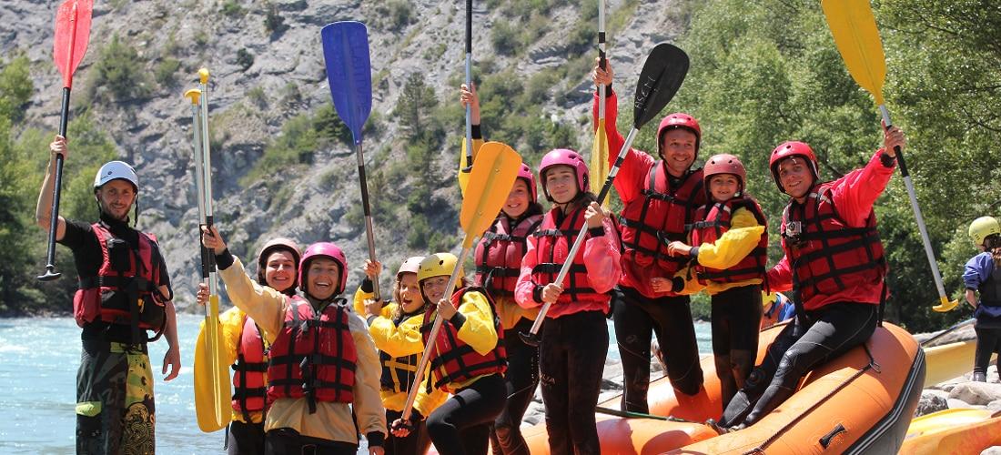 rafting et raft famille en ubaye et barcelonnette avec evp alpes du sud