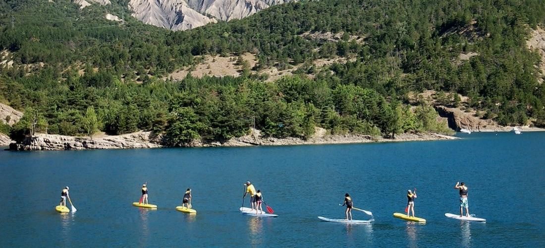 stand up paddle lac de serres poncon et savines le lac avec evp