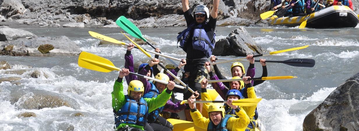 Photo lors d'un evg en rafting sur l'ubaye