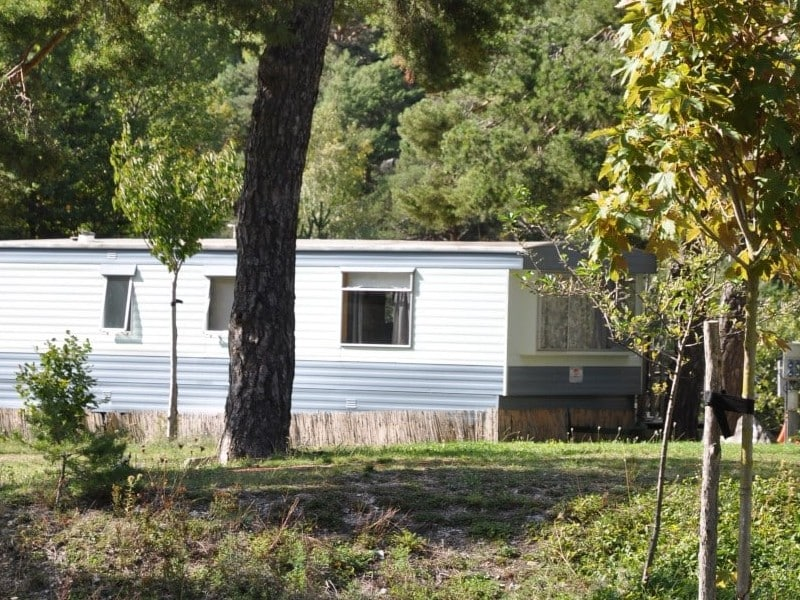 Mobil home camping river