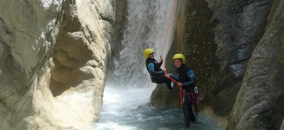 canyoning de la blache dans la vallée de l'Ubaye