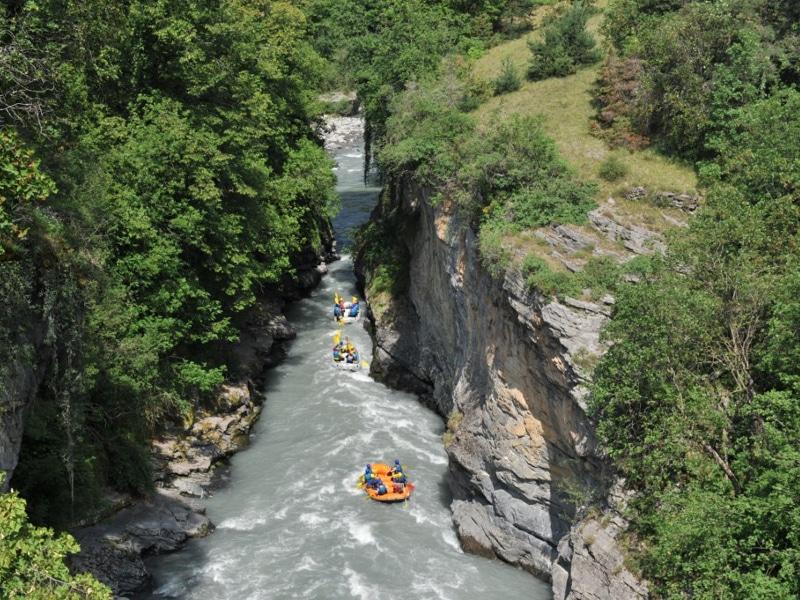 Rafting dans les gorge de l'Ubaye près de Embrun